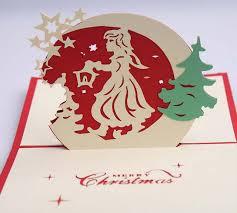 christmas party invitations 10pcs 3d christmas angel handmade kirigami origami for merry