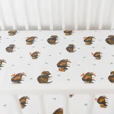 Muslin Crib Bedding Muslin Fitted Crib Sheet Bison Spearmint Ventures Llc