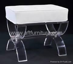 acrylic stool with cushion lucite stool plexiglass transparent