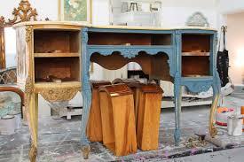 stiltskin studios weathered grey french desk