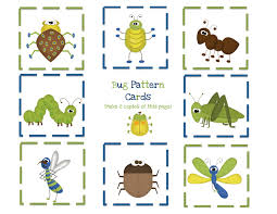 bug pattern cards for boys preschool printables bugs insects