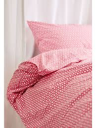 pink hand printed honeycomb single bed linen set sophie conran shop