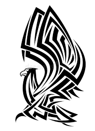 tribal eagle tattoo stock vector image of hawk insignia 26122971