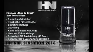 hollywood nails uv gel pediküre mit titan to brush für füße youtube