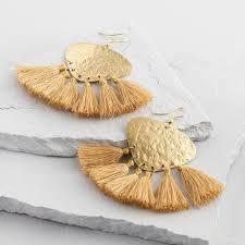earrings world gold and tassel earrings world market