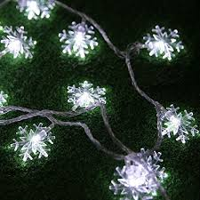 snowflake string of lights snowflake lights amazon com
