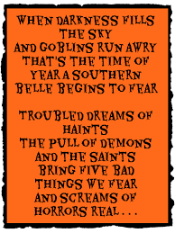 Poems For Halloween 5 Scary Things For A Southern Belle Leslie Anne Tarabella