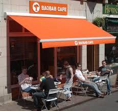 Capital City Awning Foldiing Arm Awnings Cafe Tables Menu Innovation Cafe