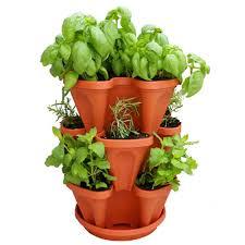details about stackable garden planter herb flower pots indoor