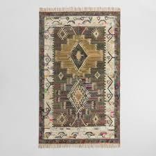 gray diamond cotton kilim taja area rug world market