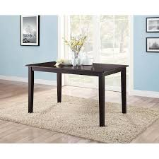 Espresso Dining Room Sets Mainstays Dining Table Rich Espresso Finish Seats 6 Comfortably
