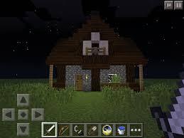 minecraft pe small medieval house 7 steps