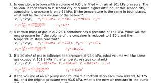 gas laws supplemental problems key google docs