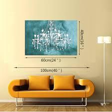 Retro Living Room Art 1 Panel Modern Painting Canvas Art Crystal Chandelier Pattern