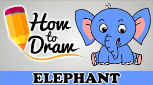 how to draw a elephant easy step by step cartoon art drawing