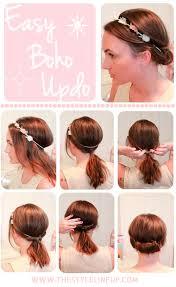 elastic hair band hairstyles boho braided hairstyles tutorials hairstyles nail art beauty