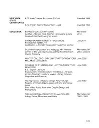Musician Resume Example by John Sidorovich 2015 Music Teacher Resume V6
