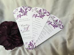 Fan Style Wedding Programs Dark Damask Petal Fan Wedding Program