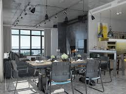 industrial loft apartment design ideas with elegant dark shades