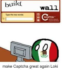 Captcha Meme - build type the two words wall re captcha stop spam read books make