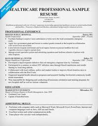 medical resume templates healthcare resume example resume