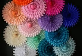paper fans decorations tissue paper fan mexican wedding decorations in