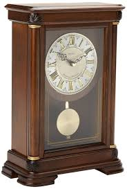 214 amazonsmile seiko mantel chime with pendulum clock brown
