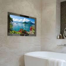 mirror bathroom tv waterproof television for bathroom my web value