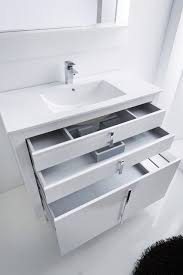 High Gloss Bathroom Furniture Various Roma Bathroom Vanity 40 White High Gloss Lacquered