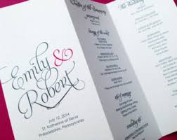 tri fold wedding program wedding programs mon amour trifold by littlesparkcreations