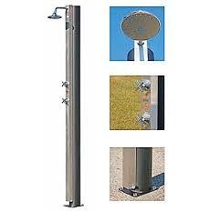 Outdoor Pool Showers - steel outdoor solar pool shower
