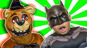 batman vs five nights at freddy u0027s vs spiderman halloween jump