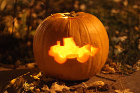 up your pumpkin carving game with 6 heavy equipment stencils from