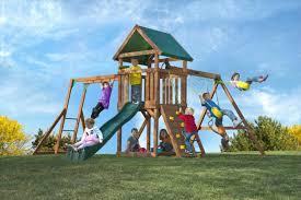 Home Depot Playset Installation The Cedar High Flyer Swing Set By Kid U0027s Creations