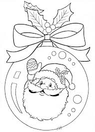 santa ornament coloring page coloring pages pinterest santa