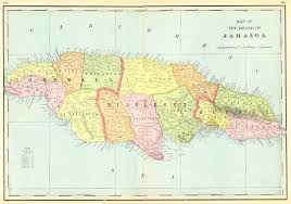 Map Of Jamaica Blank by Maps Antique Country Jamaica