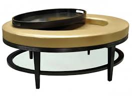 coffee table round cream leather storage ottoman coffee table