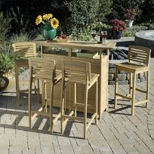 Wood Patio Furniture Sets Great Patio Bar Table Outdoor And Chairs Exclusive Appealing