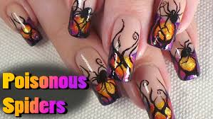 poisonous spiders nail art tutorial halloween design youtube