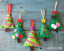 felt christmas tree ornaments
