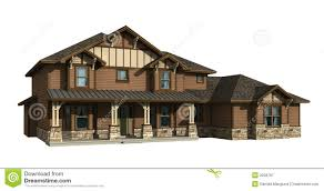 3d model of two level house royalty free stock photography image