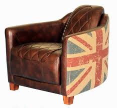 Vintage Leather Club Chair Union Jack Chair Add Flair To Any Space With The Union Jack