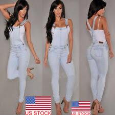 Comfort Colors Washed Denim Womens Denim Overalls Ebay