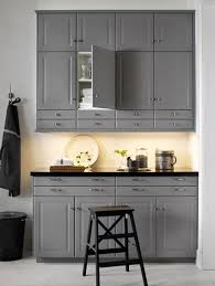 ikea black base kitchen cabinets grey wall and base cabinets with black worktop grey