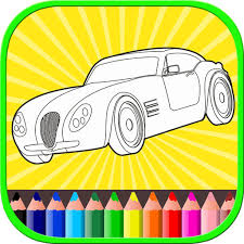 car coloring book for toddler kids paint and color app data