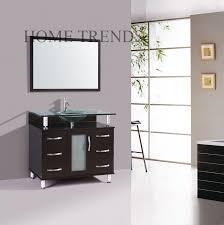 32 inch modern vanity bathroom furniture glass top tempered glass sink