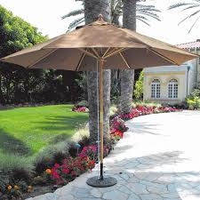 11 Market Umbrella Costco by Patio Furniture Galtech Ft Wood Patio Umbrella With Pulley Lift