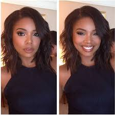 layered cuts for medium lengthed hair for black women in their late forties gabrielle union wavy bob bob haircuts pinterest gabrielle