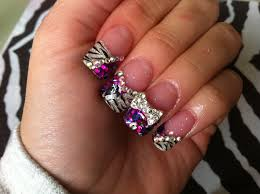 acrylic nails zebra bling youtube