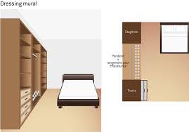 placard de rangement pour chambre choisir la forme de dressing en l u mural ooreka